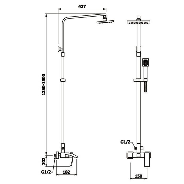 Душевая система GANZER ( ГАНЗЕР ) GZ25062
