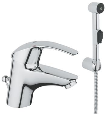 Смеситель для умывальника с гигиеническим душем