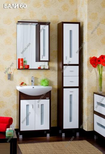 Мебель для ванной Бриклаер Бали 60, цвет венге