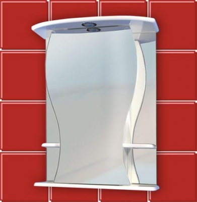 Зеркало шкаф для ванной комнаты ФИГУРА 55