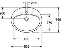 Раковина Gustavsberg Saval ( Савал ) 7G2860 60 смРаковины врезные()
