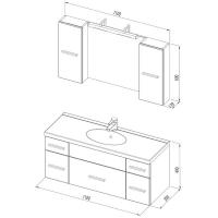 Мебель для ванной Aquanet Данте 110 (2 шкафа)Комплекты: Мебель для ванной комнаты()