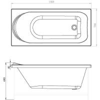 Акриловая ванна Aquanet NORD 170x70Акриловые ванны()